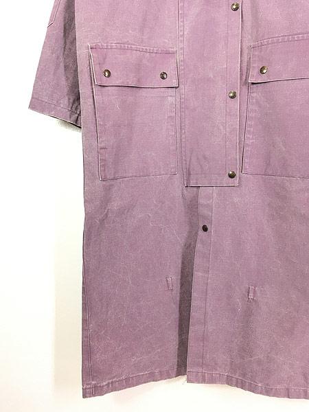 [4] 古着 80s The Australian Outback Collection ピグメント染め キャンバス ドローバー コート S!! 古着