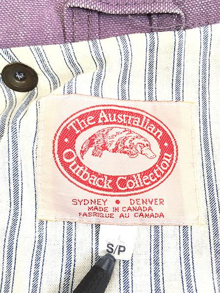 [9] 古着 80s The Australian Outback Collection ピグメント染め キャンバス ドローバー コート S!! 古着
