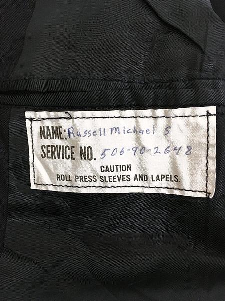 [8] 古着 70s 米軍 US NAVY ミリタリー サマー ダブル テーライド ジャケット 39L 古着