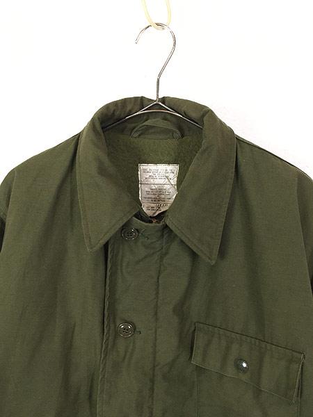 [2] 古着 80s 米軍 US NAVY 「M DIV. 52」 2段 ステンシル A-2 デッキ ジャケット L 美品!! 古着