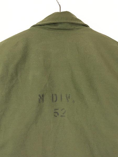 [5] 古着 80s 米軍 US NAVY 「M DIV. 52」 2段 ステンシル A-2 デッキ ジャケット L 美品!! 古着