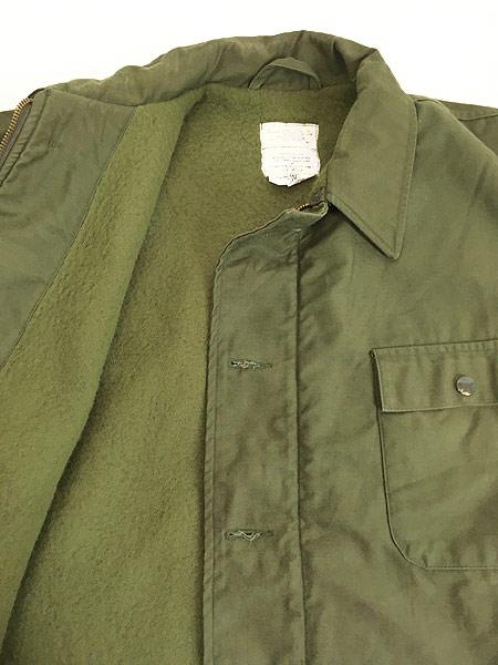 [7] 古着 80s 米軍 US NAVY 「M DIV. 52」 2段 ステンシル A-2 デッキ ジャケット L 美品!! 古着