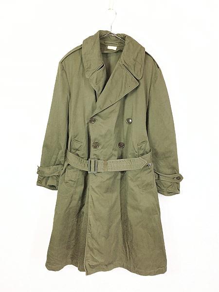 [1] 古着 40s 米軍 US ARMY M-1946 「Overcoat Field OD-7」 ダブルブレスト オーバー コート M-S 美品!! 古着