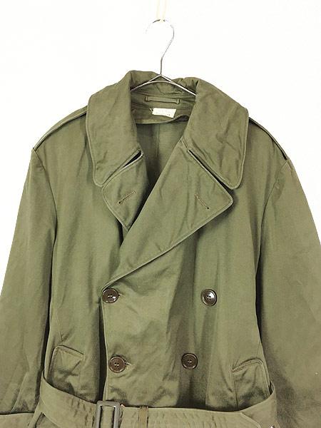 [2] 古着 40s 米軍 US ARMY M-1946 「Overcoat Field OD-7」 ダブルブレスト オーバー コート M-S 美品!! 古着