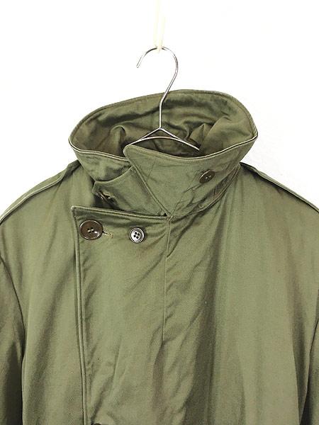 [4] 古着 40s 米軍 US ARMY M-1946 「Overcoat Field OD-7」 ダブルブレスト オーバー コート M-S 美品!! 古着