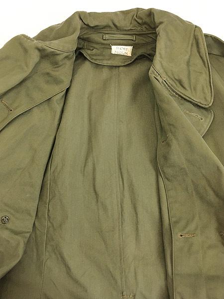[8] 古着 40s 米軍 US ARMY M-1946 「Overcoat Field OD-7」 ダブルブレスト オーバー コート M-S 美品!! 古着