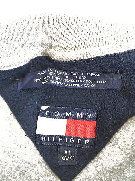 [6] 古着 90s TOMMY HILFIGER ワンポイント プルオーバー フリース ジャケット XL 古着