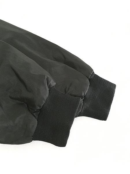 [5] 古着 80s USA製 CAT ブルドーザー 刺しゅう ナイロン スタジアム ジャケット スタジャン XL 古着