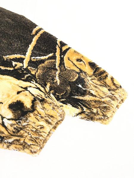 [5] 古着 90s USA製 Cobblestone Canyon ワンちゃん 犬 アート フリース ジャケット M 古着