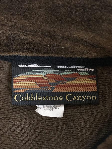 [7] 古着 90s USA製 Cobblestone Canyon ワンちゃん 犬 アート フリース ジャケット M 古着
