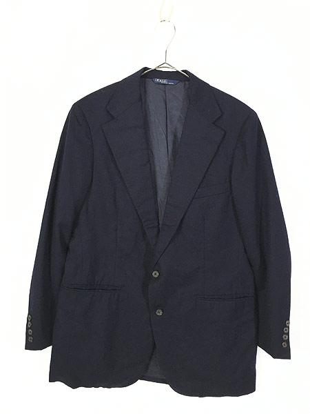 [1] 古着 80s Polo Ralph Lauren シンプル ウール テーラード ジャケット L位 古着