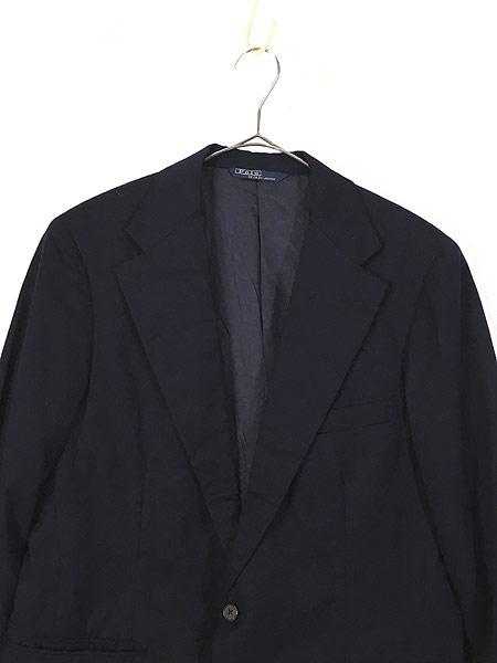 [2] 古着 80s Polo Ralph Lauren シンプル ウール テーラード ジャケット L位 古着