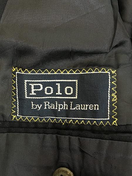 [8] 古着 80s Polo Ralph Lauren シンプル ウール テーラード ジャケット L位 古着
