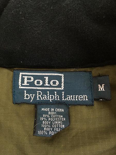 [9] 古着 Polo Ralph Lauren ワンポイント 刺しゅう コットン シェル パデット ベスト M 古着