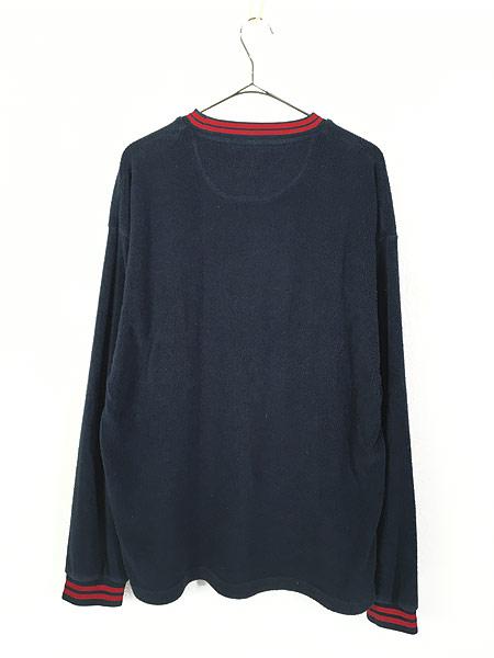 [3] 古着 CHAPS Ralph Lauren ワンポイント リブライン プルオーバー フリース ジャケット L 古着