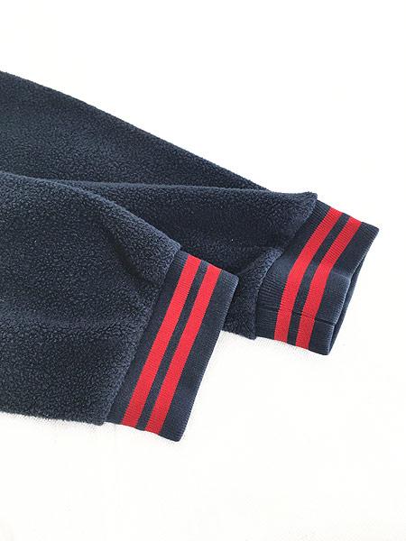 [4] 古着 CHAPS Ralph Lauren ワンポイント リブライン プルオーバー フリース ジャケット L 古着