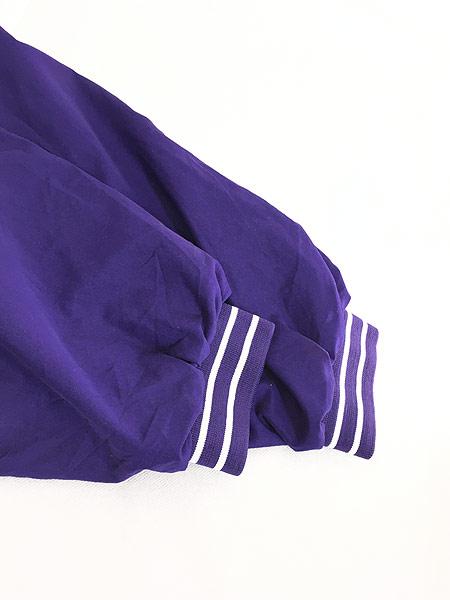 [4] 古着 90s Reebok ワンポイント 異素材 ピーチスキン プルオーバー ジャケット XL 古着