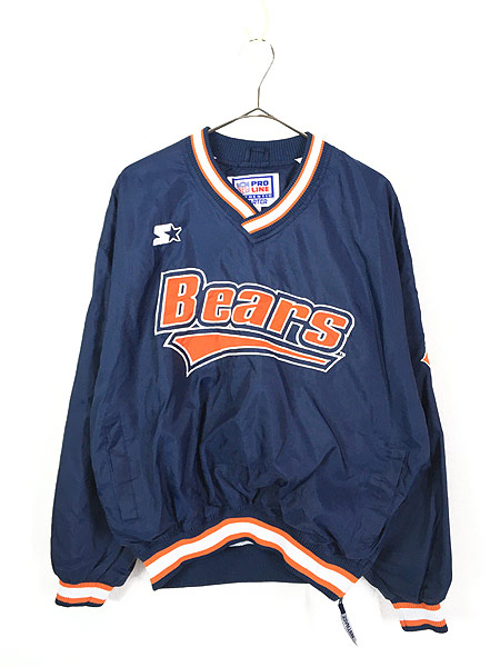 [1] 古着 90s STARTER製 NFL Bears プルオーバー ナイロン ジャケット L 古着