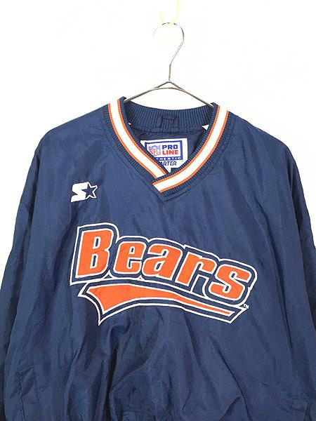 [2] 古着 90s STARTER製 NFL Bears プルオーバー ナイロン ジャケット L 古着