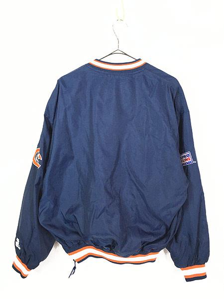 [4] 古着 90s STARTER製 NFL Bears プルオーバー ナイロン ジャケット L 古着