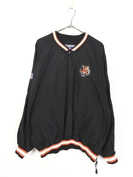 [1] 古着 90s USA製 STARTER NFL Cincinnati BENGALS プルオーバー ジャケット XL 古着