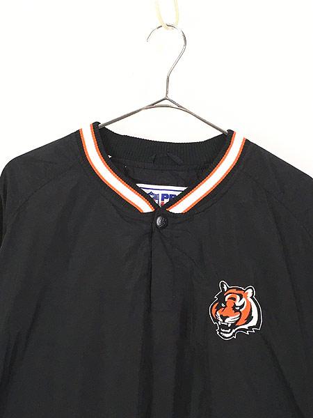 [2] 古着 90s USA製 STARTER NFL Cincinnati BENGALS プルオーバー ジャケット XL 古着
