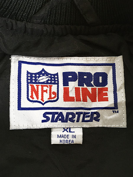 [7] 古着 90s USA製 STARTER NFL Cincinnati BENGALS プルオーバー ジャケット XL 古着
