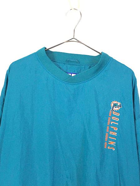 [2] 古着 90s LOGO7製 NFL MIAMI Dolphins ドルフィンズ プルオーバー ジャケット L 古着
