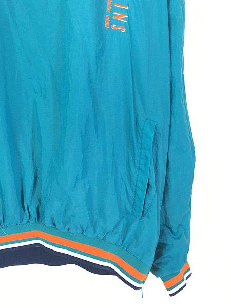 [3] 古着 90s LOGO7製 NFL MIAMI Dolphins ドルフィンズ プルオーバー ジャケット L 古着