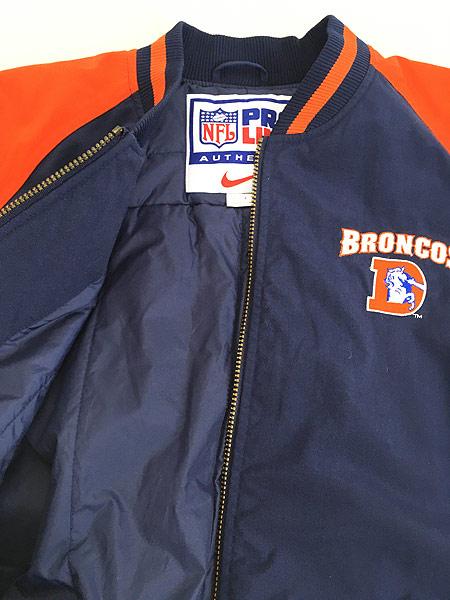 [5] 古着 NIKE NFL Denver Broncos スウォッシュ 刺しゅう パデット ナイロン ジャケット L 古着