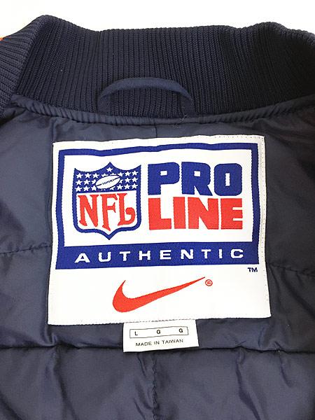 [6] 古着 NIKE NFL Denver Broncos スウォッシュ 刺しゅう パデット ナイロン ジャケット L 古着
