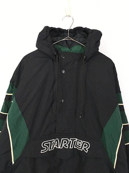 [2] 古着 90s STARTER プルオーバー フーデッド パデット ナイロン ジャケット XL 古着