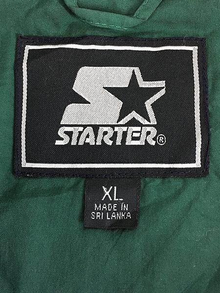 [8] 古着 90s STARTER プルオーバー フーデッド パデット ナイロン ジャケット XL 古着