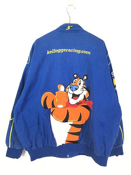 [4] 古着 90s Chase JH DESIGN Kellogg ケロッグ 豪華 刺しゅう レーシング ジャケット XXL 古着