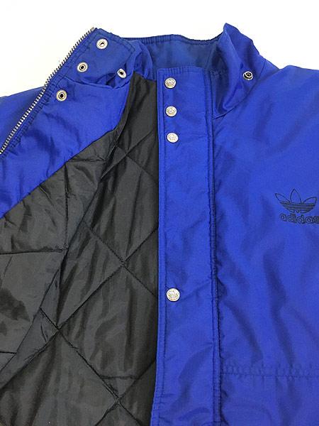 [6] 古着 90s adidas 両面 刺しゅう パデット ナイロン ジャケット M 古着