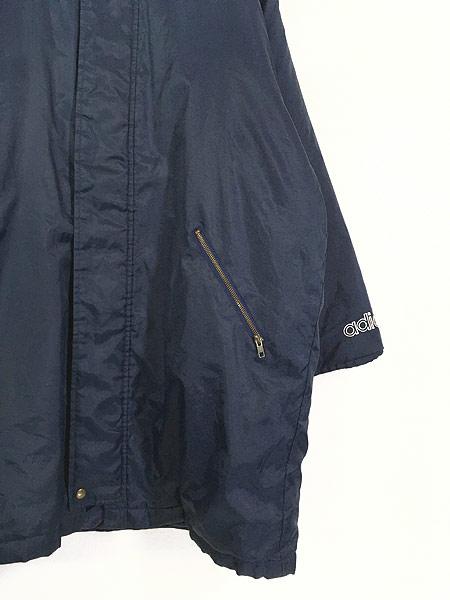 [3] 古着 90s adidas BIG トレフォイル 刺しゅう パデット ナイロン ベンチ コート L 古着