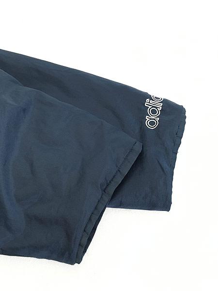 [5] 古着 90s adidas BIG トレフォイル 刺しゅう パデット ナイロン ベンチ コート L 古着