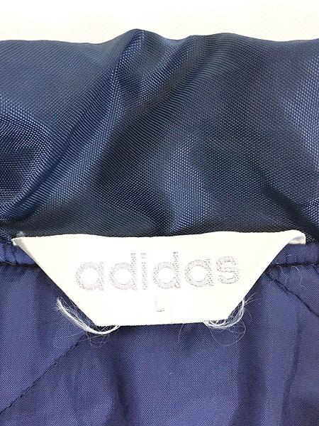 [7] 古着 90s adidas BIG トレフォイル 刺しゅう パデット ナイロン ベンチ コート L 古着