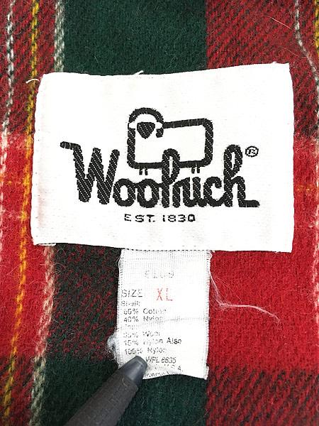 [7] 古着 70s USA製 WoolRich 60/40クロス ウール ライナー マウンテン パーカー マウンパ タン XL 古着