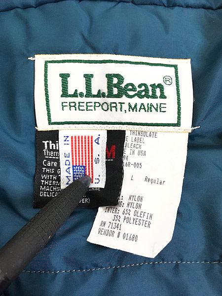 [8] 古着 90s USA製 LL Bean チロリアン テープ 防寒 パデット クレイジー アノラック パーカー L 古着