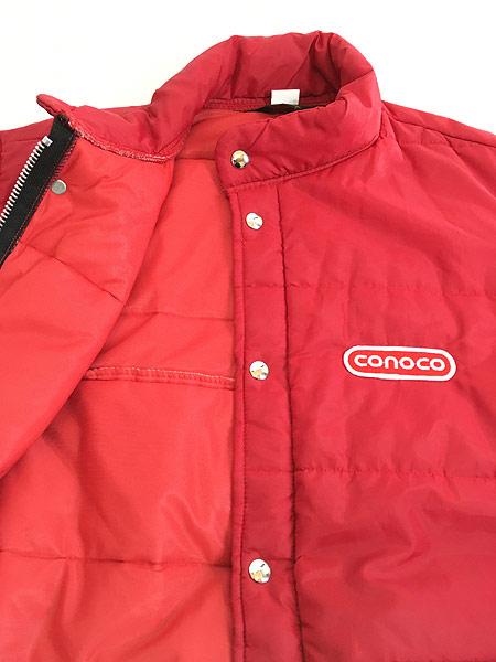 [6] 古着 70s USA製 Swingster 「conoco」 パッチ パデット ナイロン レーシング ジャケット L 古着