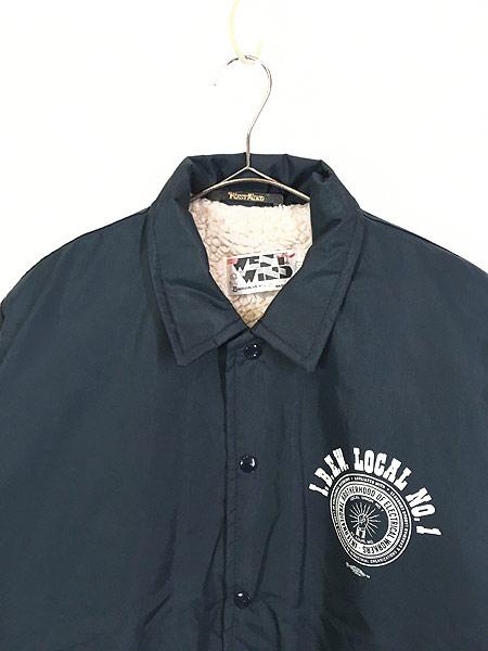 [2] 古着 80s USA製 West Wind 「L.B.E.W」 裏ボア ナイロン コーチ ジャケット L 古着