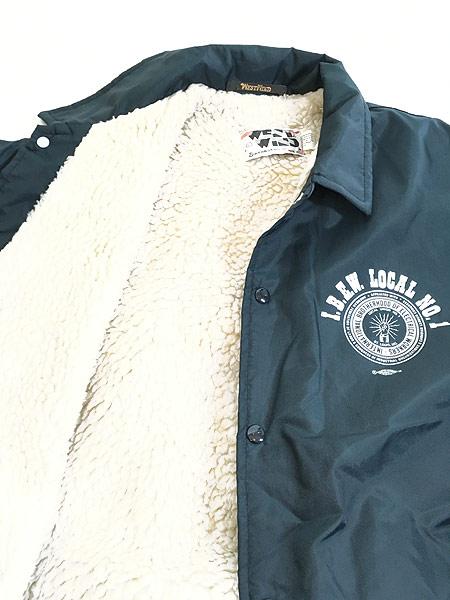 [5] 古着 80s USA製 West Wind 「L.B.E.W」 裏ボア ナイロン コーチ ジャケット L 古着