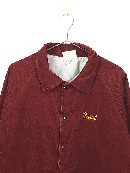 [2] 古着 80s USA製 HARTWELL 「ICONA」 刺しゅう パデット コーデュロイ スタジャン XL 古着